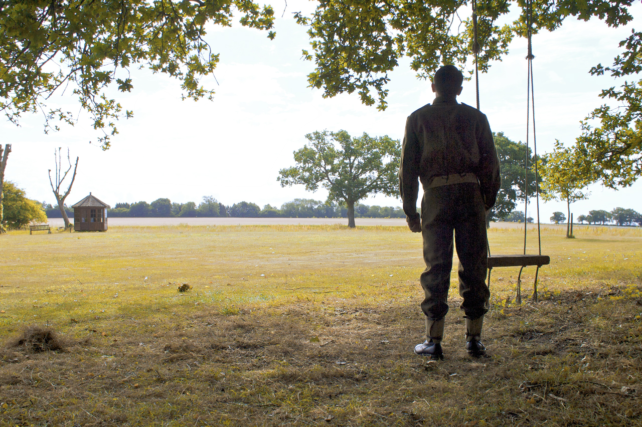 Soldier Albert reminisces by the swing